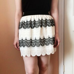 Francesca's Annabella Embroidered Lace Skirt